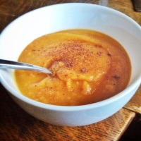 Savory Slow Cooked Sweet Potato Apple Carrot Soup (Vegan and Paleo)