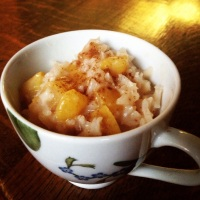 Perfect Peach Rice Pudding (Vegan, and gluten-free)