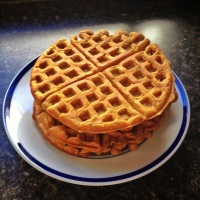 Happy Healthy Pumpkin Waffles