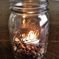 Pebble Mason Jar Candle Holder